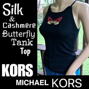 ▪️MICHAEL KORS▪️Silk Cashmere Butterfly Tank Top